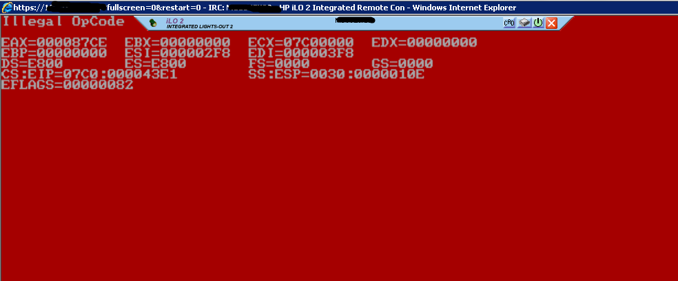 Upgrading iLO firmware manually (working around a stuck HP logo