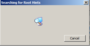 searching for root hints