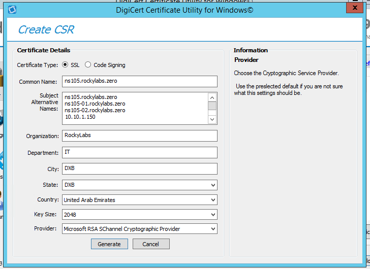 Generating certificates with SAN in NetScaler (to make it work with ...
